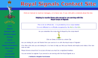Royal Signals Contact Site